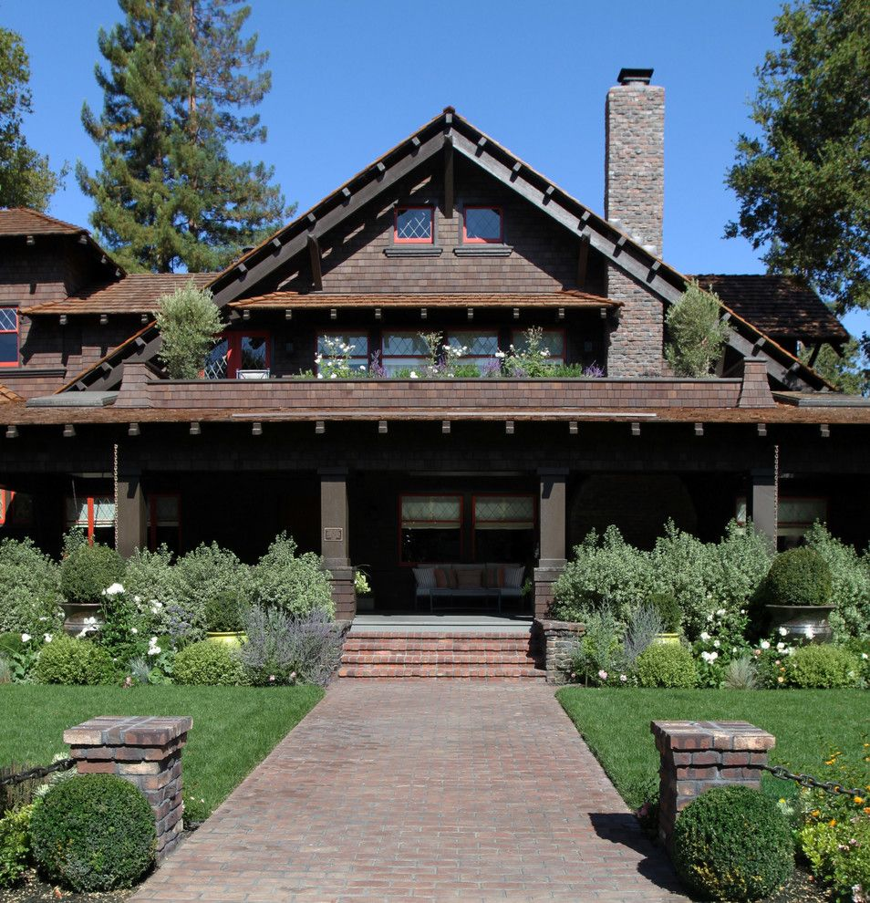 Gable Roof for a Craftsman Exterior with a Pots and Palo Alto Historic Home by Boxleaf Design, Inc.