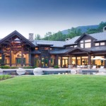 Gable Roof for a Rustic Exterior with a Gable Roof and Willoughby Way by Charles Cunniffe Architects Aspen