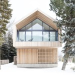 Gable Roof for a Scandinavian Exterior with a Barn and Maison Glissade (Ski Chalet) by Peter A. Sellar   Architectural Photographer