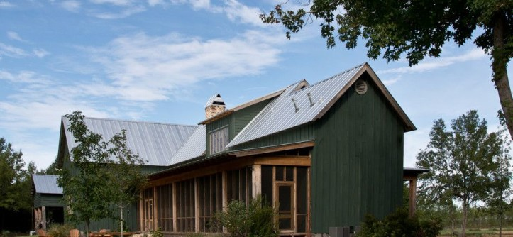 Gabled Roof for a Farmhouse Exterior with a Gable Roof and Sunflower Farm Cabin by Beard + Riser Architects