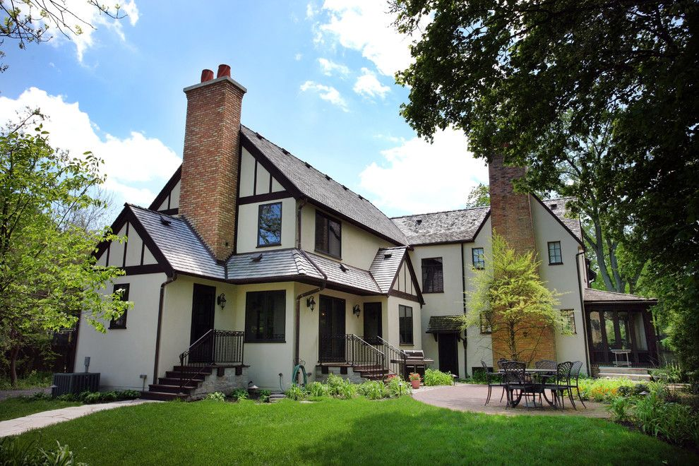 Gabled Roof for a Traditional Exterior with a Tudor and Tudor Addition by Normandy Remodeling