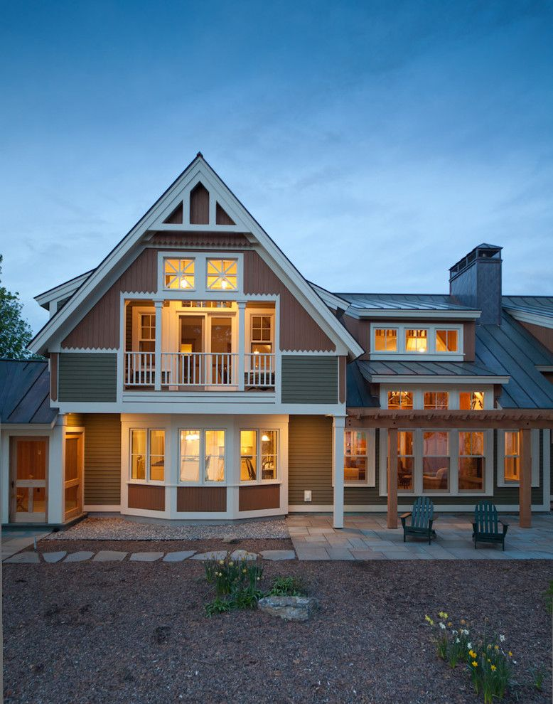 Gables Upper Kirby for a Victorian Exterior with a Adirondack Chairs and Lake Champlain Vermont by Battle Associates, Architects
