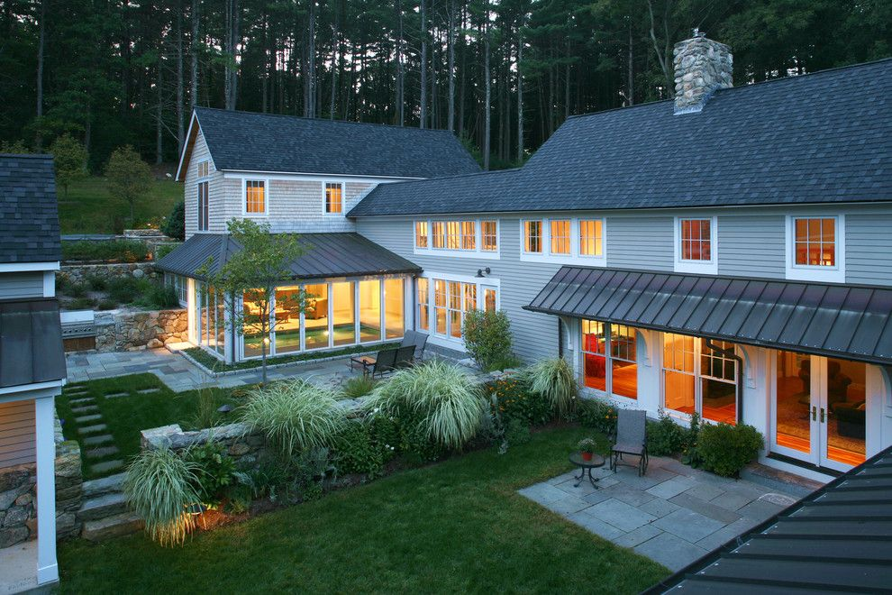 Gaf Shingles for a Contemporary Landscape with a Nanawall and Sudbury House Renovation by Sheldon Pennoyer Architects