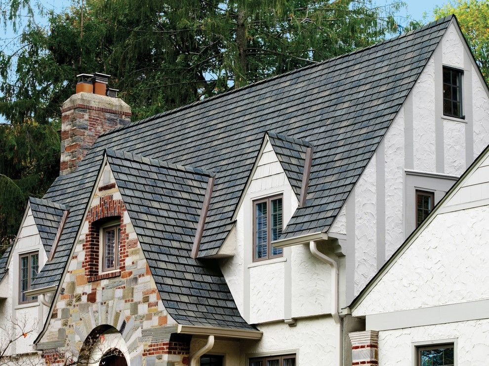 Gaf Shingles for a Traditional Exterior with a Gaf Shingle Roof and Gaf Shingle Roof by Wedge Roofing