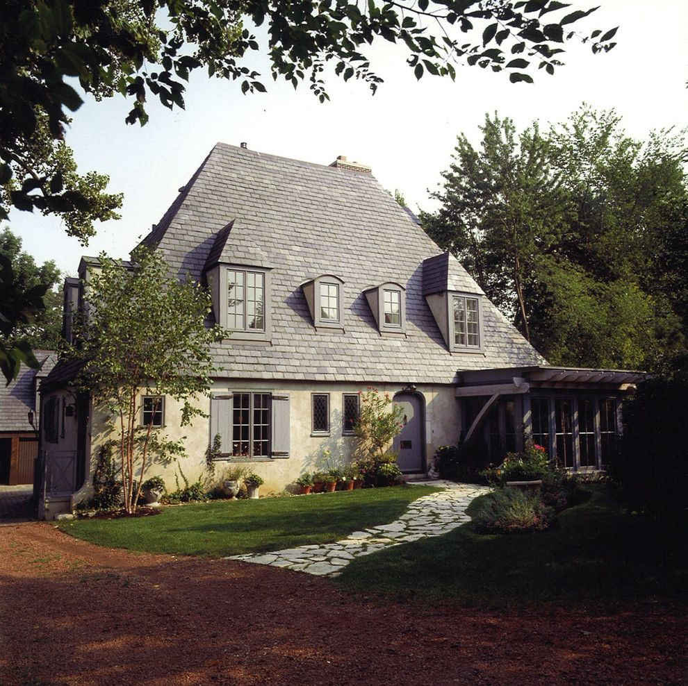 Gaf Shingles for a Traditional Exterior with a Lawn and Ayers by Michael Abraham Architecture