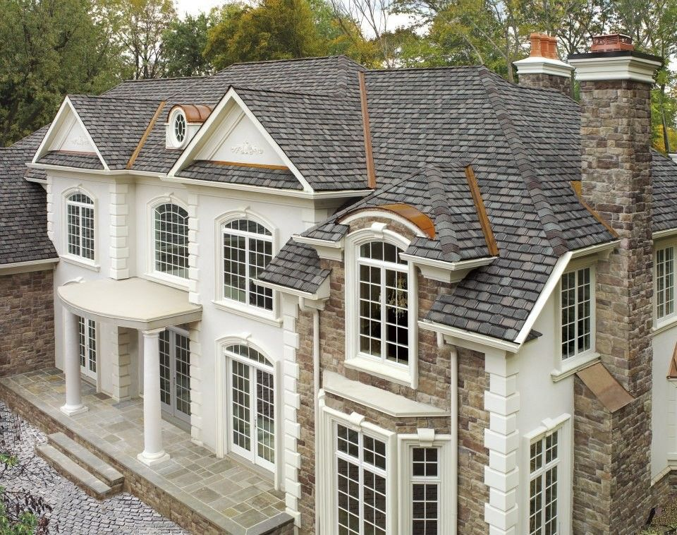 Gaf Shingles for a Traditional Exterior with a Roofing and Gaf Roofing by Lindus Construction/midwest Leafguard
