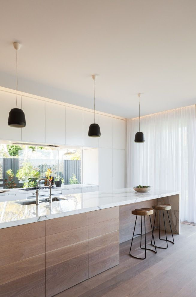 Galley Kitchen for a Scandinavian Kitchen with a Refurbishment and Lennox Street House by Corben Architects