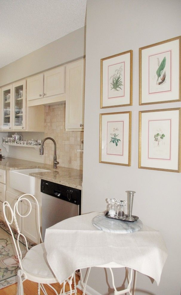 Galley Kitchen for a Traditional Kitchen with a Traditional and Small Kitchen Nook by J. Cashier Interiors