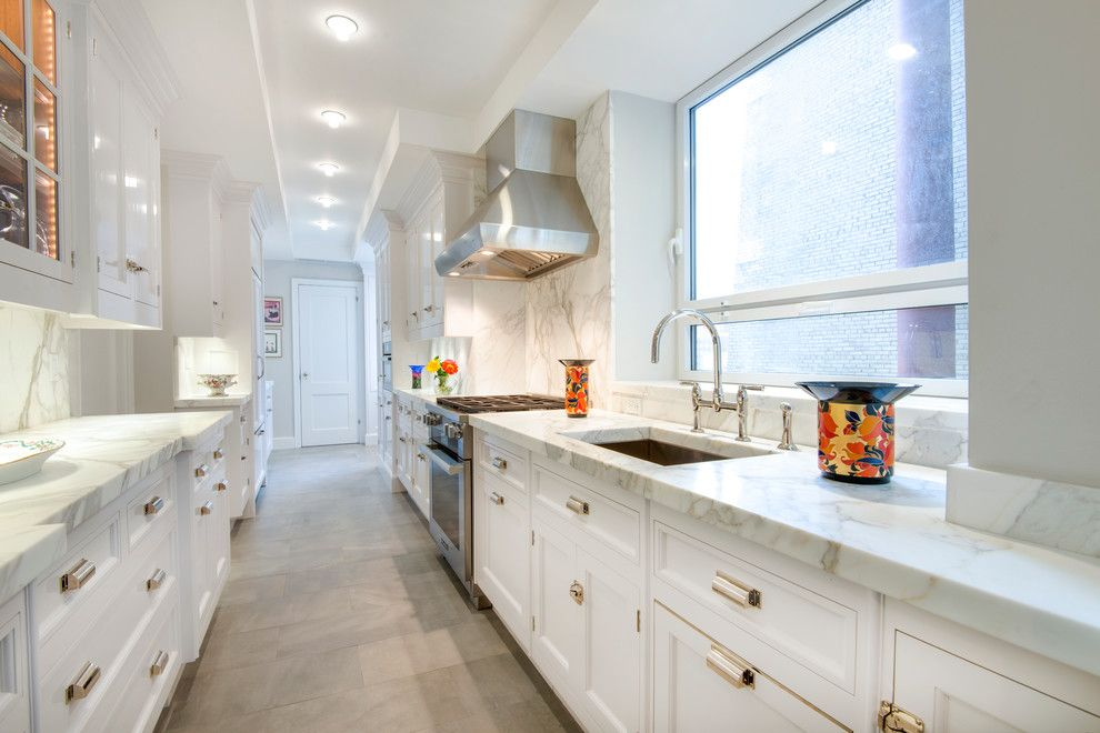 Galley Kitchens for a Transitional Kitchen with a Gold Knobs and Complete Kitchen by Dushi Marble & Granite