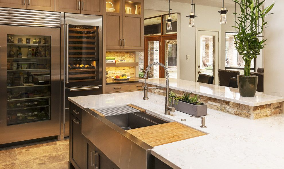 Galley Sink for a Transitional Kitchen with a Sink and the Galley Workstation by the Galley Collection