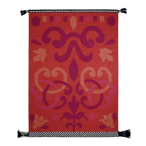 Gandia Blasco for a  Living Room with a  and Gandia Blasco Arabesco Red Modern Rug by Gessato