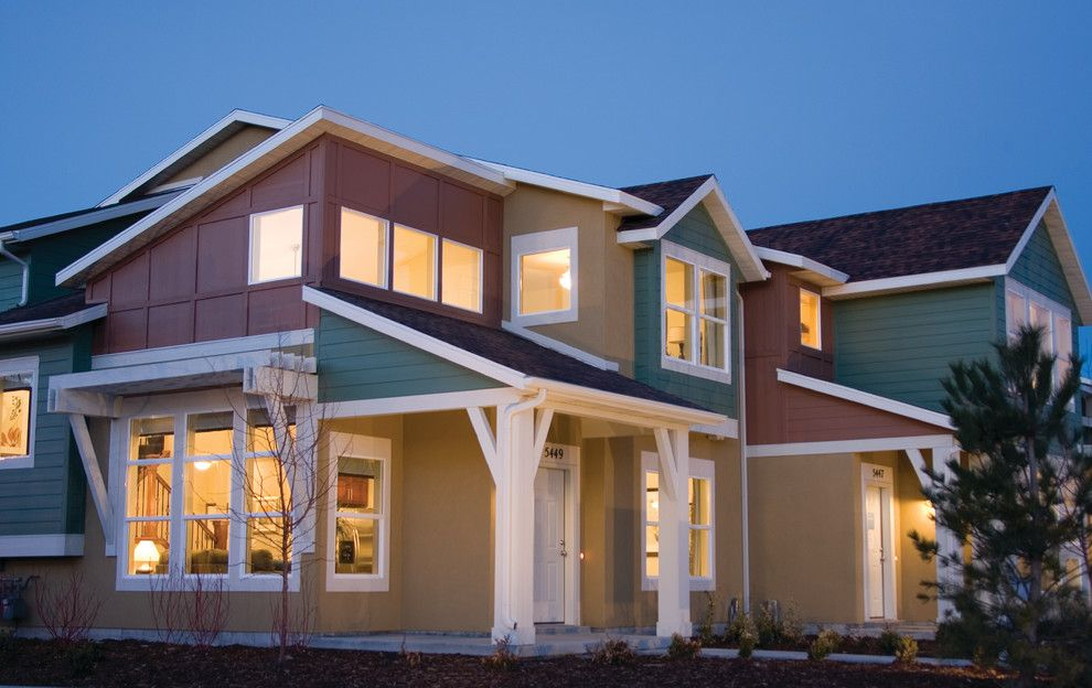 Garbett Homes for a Contemporary Exterior with a Attached and Crossover Townhome by Think Architecture Inc.