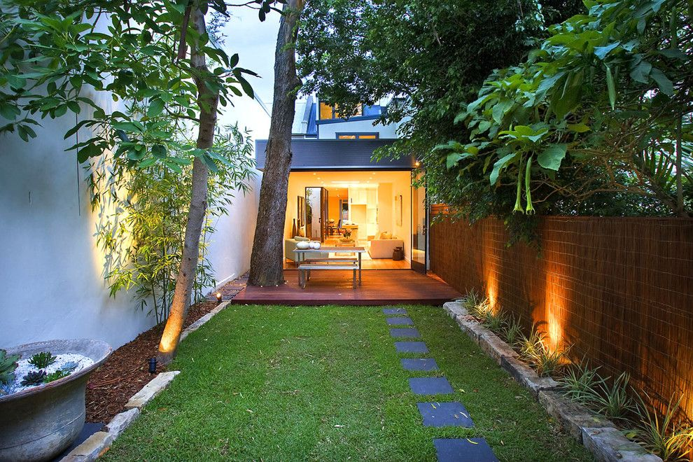 Garden Crossings for a Contemporary Landscape with a Patio and Jesmon Terrace by Orbis Design