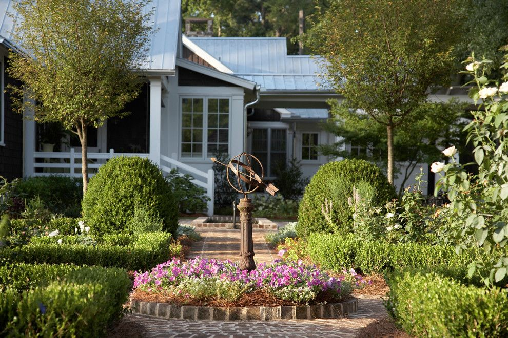 Garden Crossings for a Farmhouse Landscape with a Orb and From Pre Fab to Farmhouse by Historical Concepts