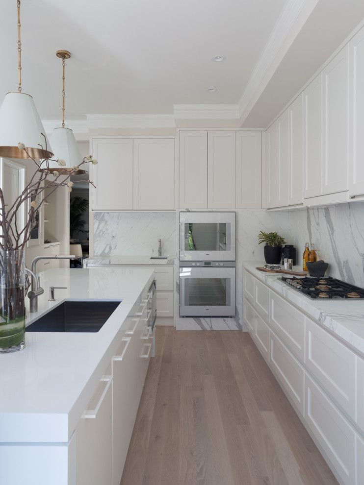 Gardner White Clearance for a Contemporary Kitchen with a White Oven and Greenwich Street by Green Couch Interior Design