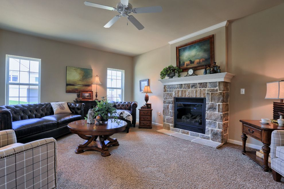 Garman Builders for a Traditional Family Room with a Ceiling Fans and 114 Summerlyn Drive by Garman Builders Inc.