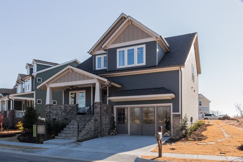 Garman Homes for a Craftsman Exterior with a Accent Wall and Garman Homes - Briar Chapel Model - the Overachiever by Garman Homes