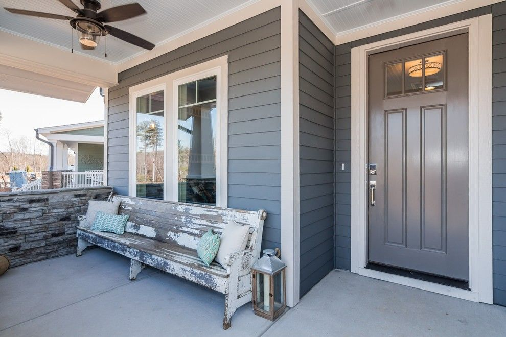 Garman Homes for a Craftsman Porch with a Bathroom and Garman Homes   Briar Chapel Model   the Overachiever by Garman Homes