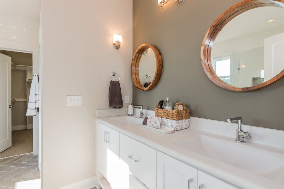 Garman Homes for a Transitional Bathroom with a Bar and Garman Homes - Briar Chapel Model - the Overachiever by Garman Homes
