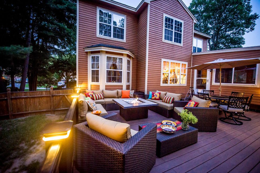 Gastineau Log Homes for a Contemporary Deck with a Outdoor Lighting and Patios and Decks by Razzano Homes and Remodelers, Inc.