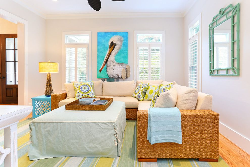 Gdc Home for a Beach Style Family Room with a Plantation Shutters and Kiawah Beach House for Gdc by Matthew Bolt Graphic Design