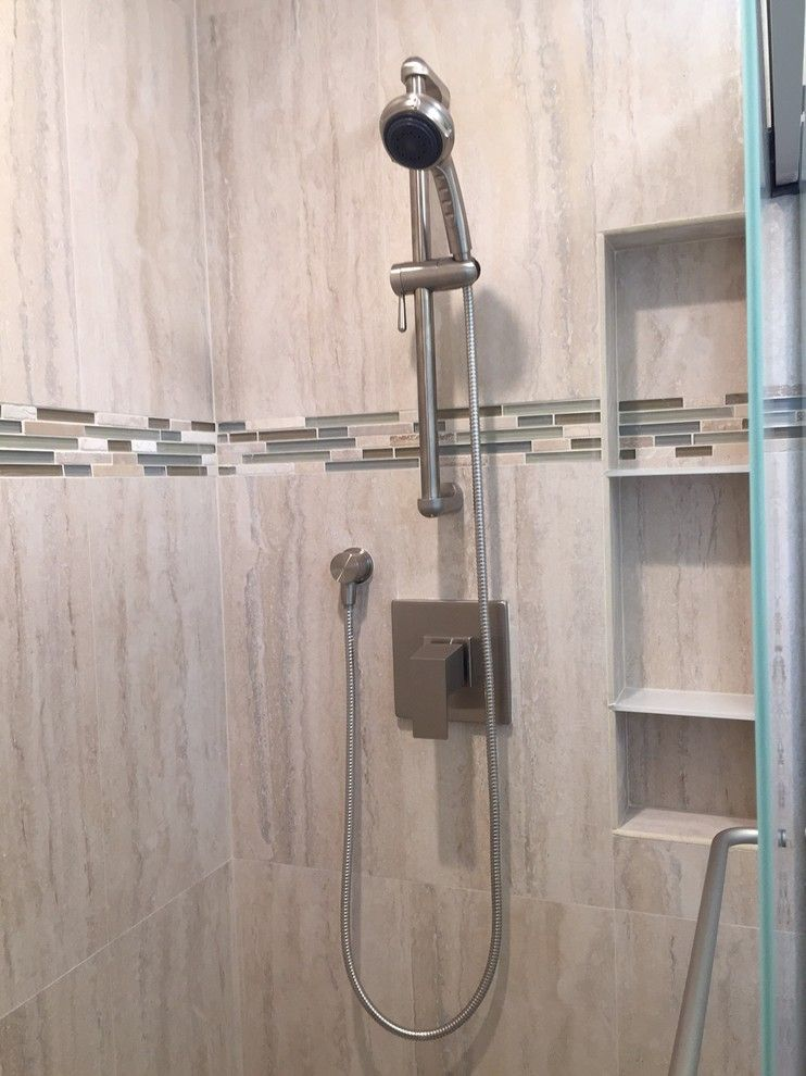 Gemco for a Contemporary Spaces with a Shower Shelves and Persson Bathroom Renovation by Gemco Usa