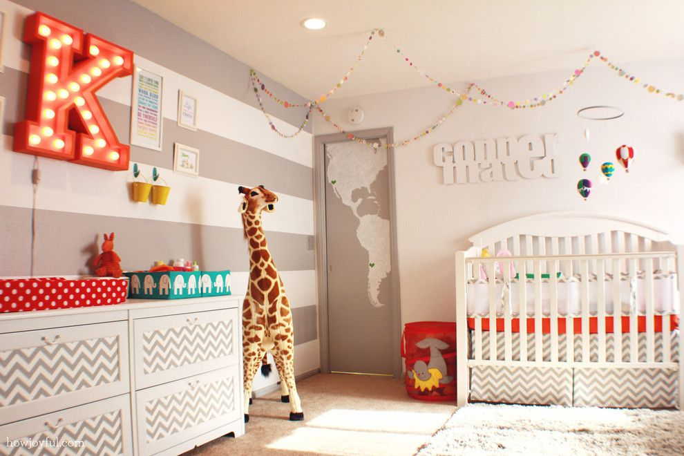 Gender Neutral Nursery for a Contemporary Nursery with a Nursery Dresser and Gender Neutral Nursery by Howjoyful Design Studio