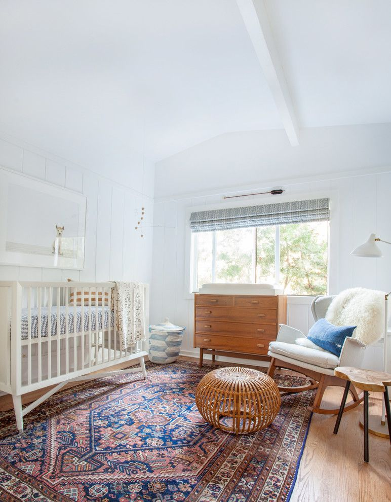 Gender Neutral Nursery for a Contemporary Nursery with a Rocking Chair and Rustic Road by Amber Interiors