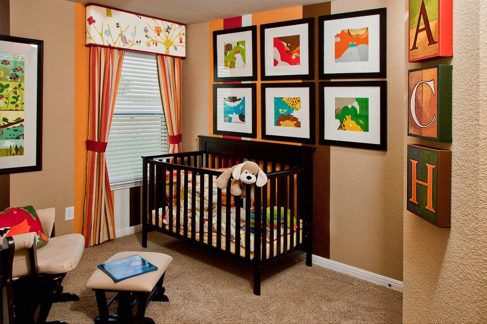 Gender Neutral Nursery for a Contemporary Nursery with a Valance and Killeen Model Stylecraft Builders by Stylecraft Builders