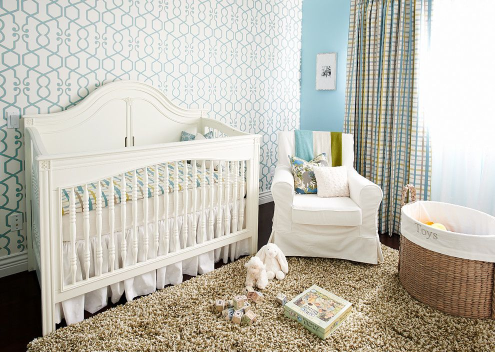 Gender Neutral Nursery for a Traditional Nursery with a Slipcover and Transitional Home by Fina Designs