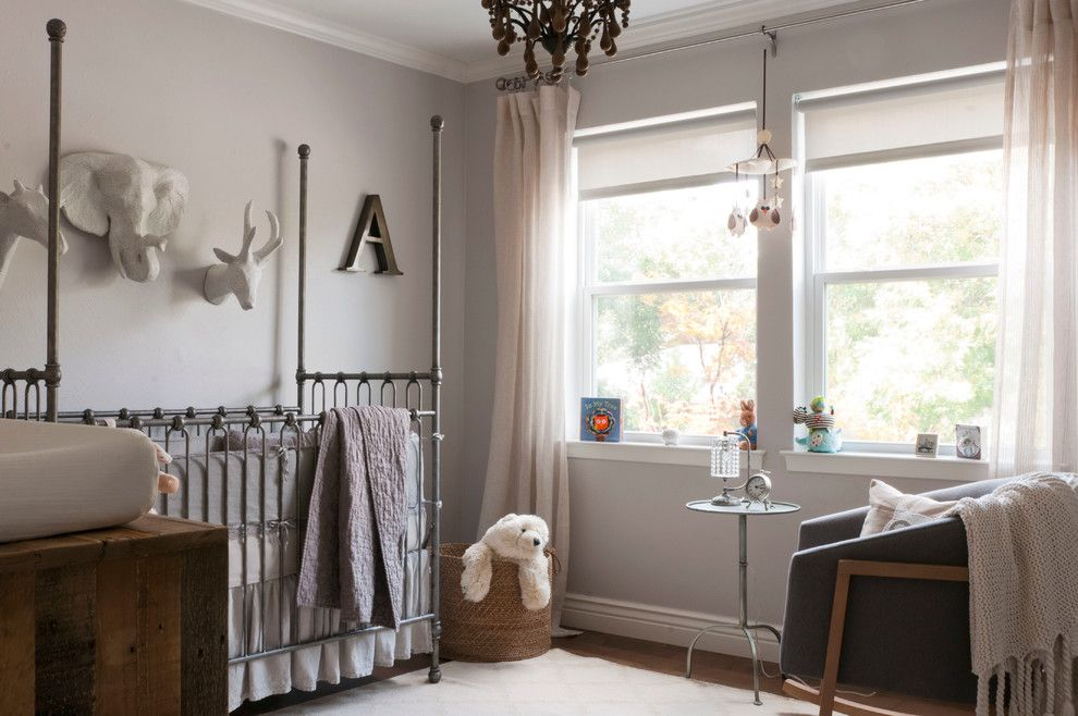 Gender Neutral Nursery for a Transitional Nursery with a Side Table and My Houzz: Gurfinkel Family by Angela Flournoy