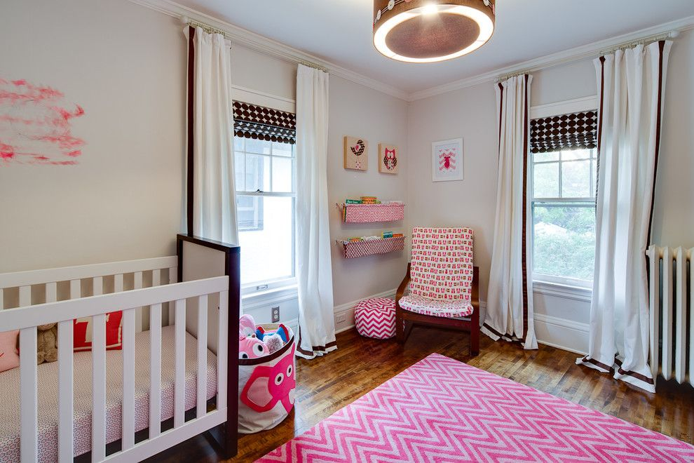 Gender Neutral Nursery for a Transitional Nursery with a Wall Art and Transitional Nursery by Dezaarinteriors.com