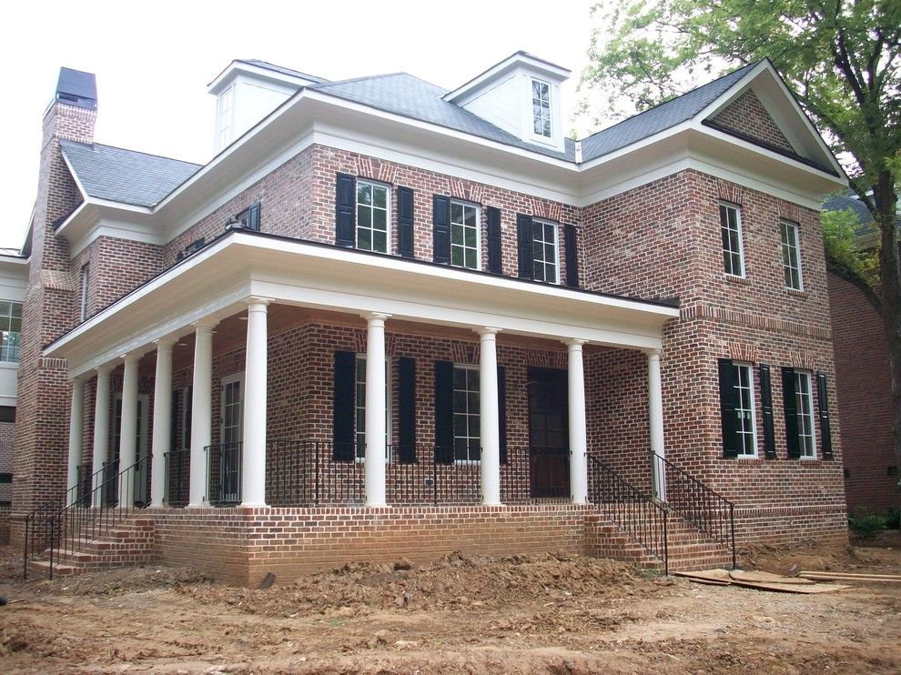 General Shale Brick for a Traditional Exterior with a Brick and Exterior by Hickman Construction Company, Inc.
