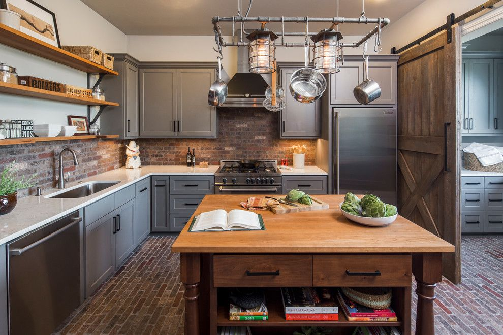 General Shale Brick for a Traditional Kitchen with a Electrolux and Central Texas Custom Home by Dawn Hearn Interior Design
