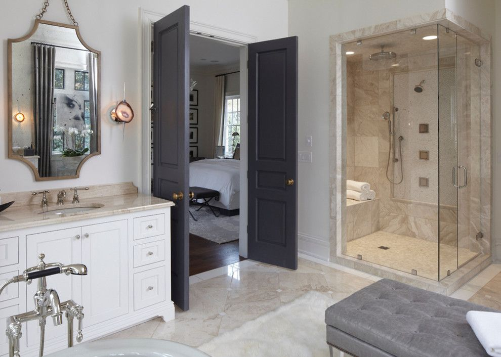 George Morlan Plumbing for a Traditional Bathroom with a Vintage Mirror and Products We Love! by Buffalo Plumbing Showroom