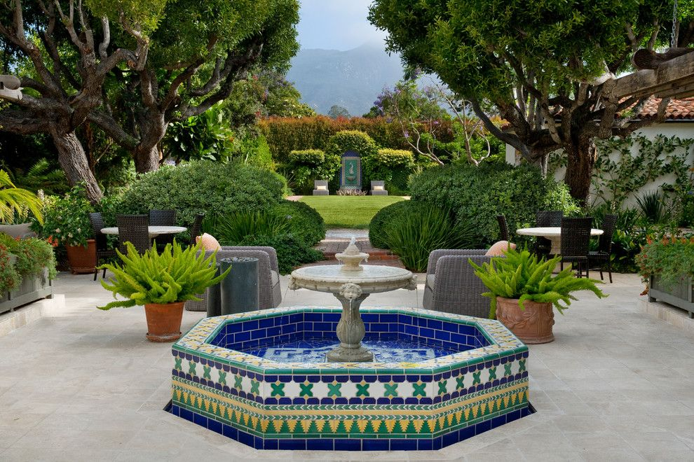 George Washington Toma for a Mediterranean Patio with a Mediterranean and Montecito, George Washington Smiths Design Studio by Margie Grace   Grace Design Associates