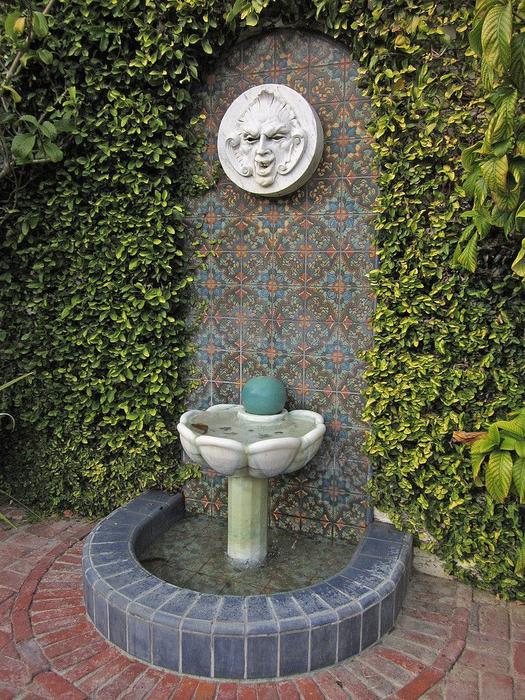 George Washington Toma for a Traditional Landscape with a Fountain and George Washington Smiths Design Studio in Montecito by Margie Grace   Grace Design Associates