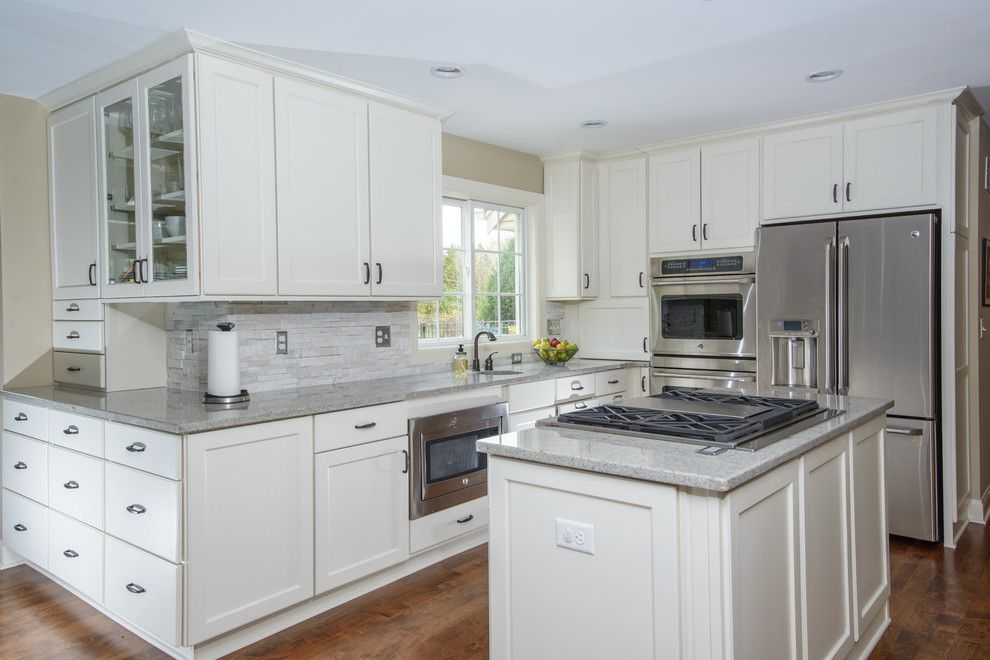 Gerhards Appliances for a Contemporary Kitchen with a Open Concept and Delafield First Floor Renovation by Gmh Construction