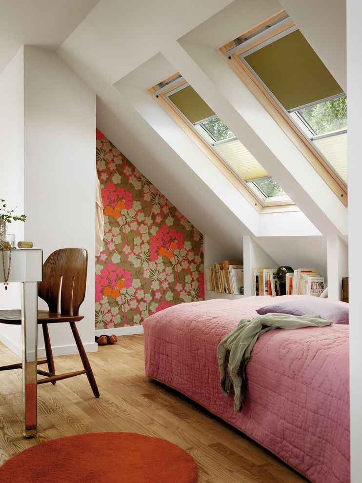 Get Rid of Fruit Flies for a Contemporary Bedroom with a Wood Floor and German Shades by Fenstermann Llc