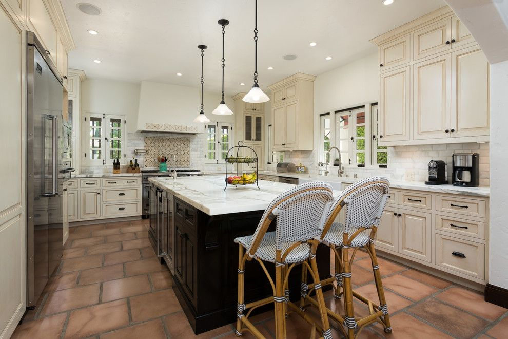 Get Rid of Fruit Flies for a Mediterranean Kitchen with a Spanish Style and Lombardy as Built Kitchen by Chelsea Construction Corporation