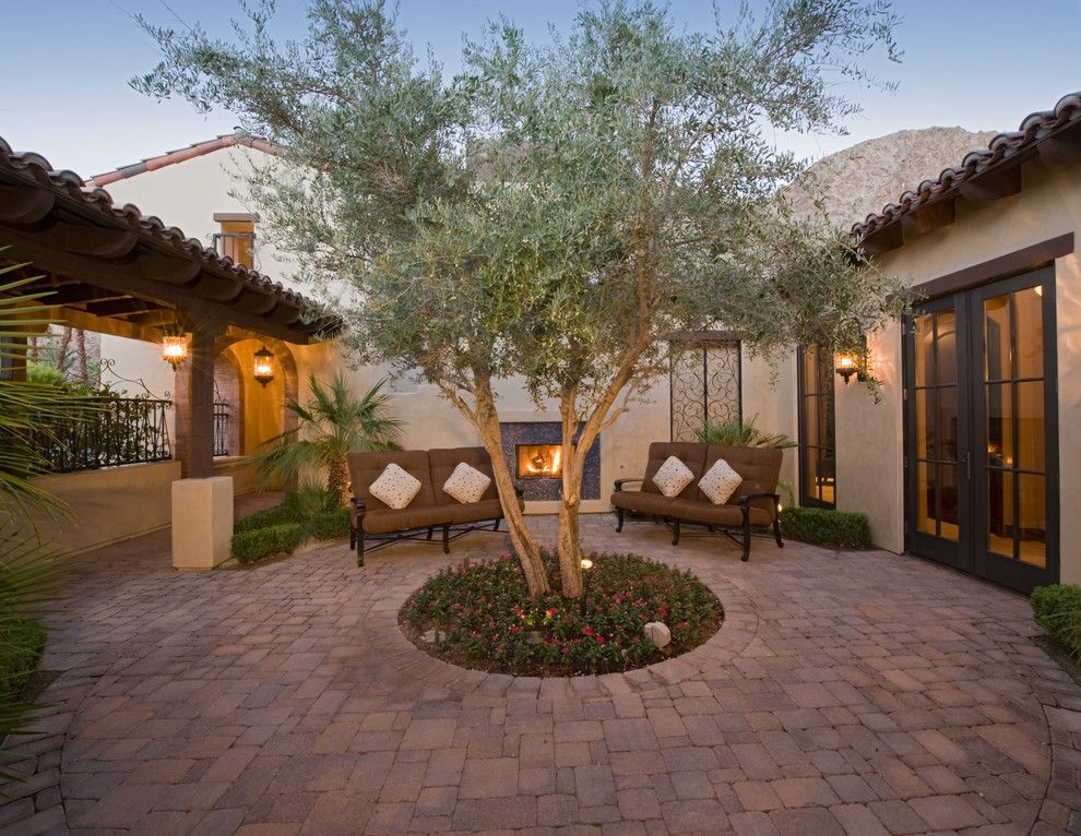 Get Rid of Fruit Flies for a Mediterranean Patio with a Tile Roof and Indian Wells Private Villas by Danielian Associates Architecture + Planning
