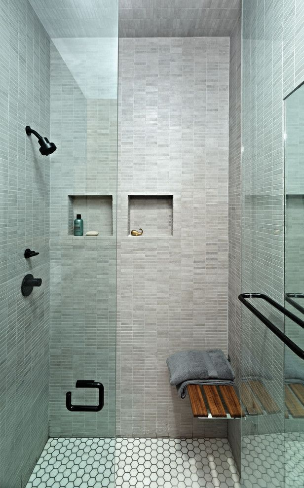 Getting Rid of Mosquitoes for a Contemporary Bathroom with a Shower and East Village Studio by Jordan Parnass Digital Architecture