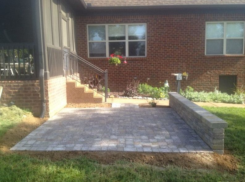 Gibbs Landscaping for a  Patio with a Landscape and Paverstone Patio by Gibbs Landscaping & Lawn Care