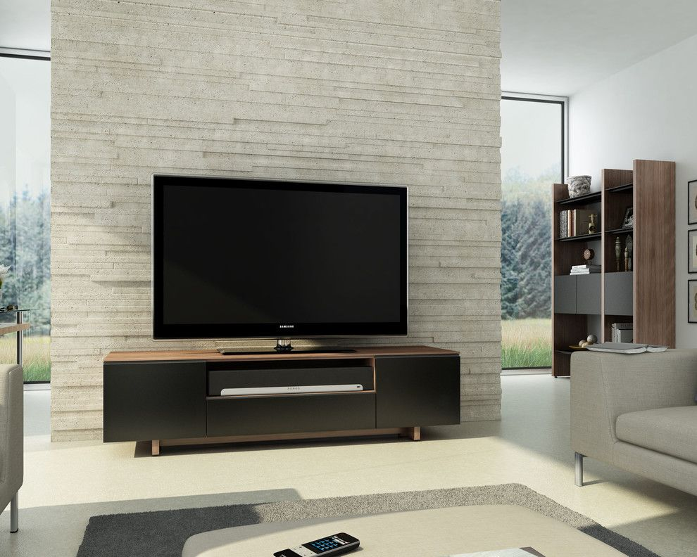 Gladhill Furniture for a Contemporary Living Room with a Gray Sofa and Bdi Furniture by Bdi Furniture