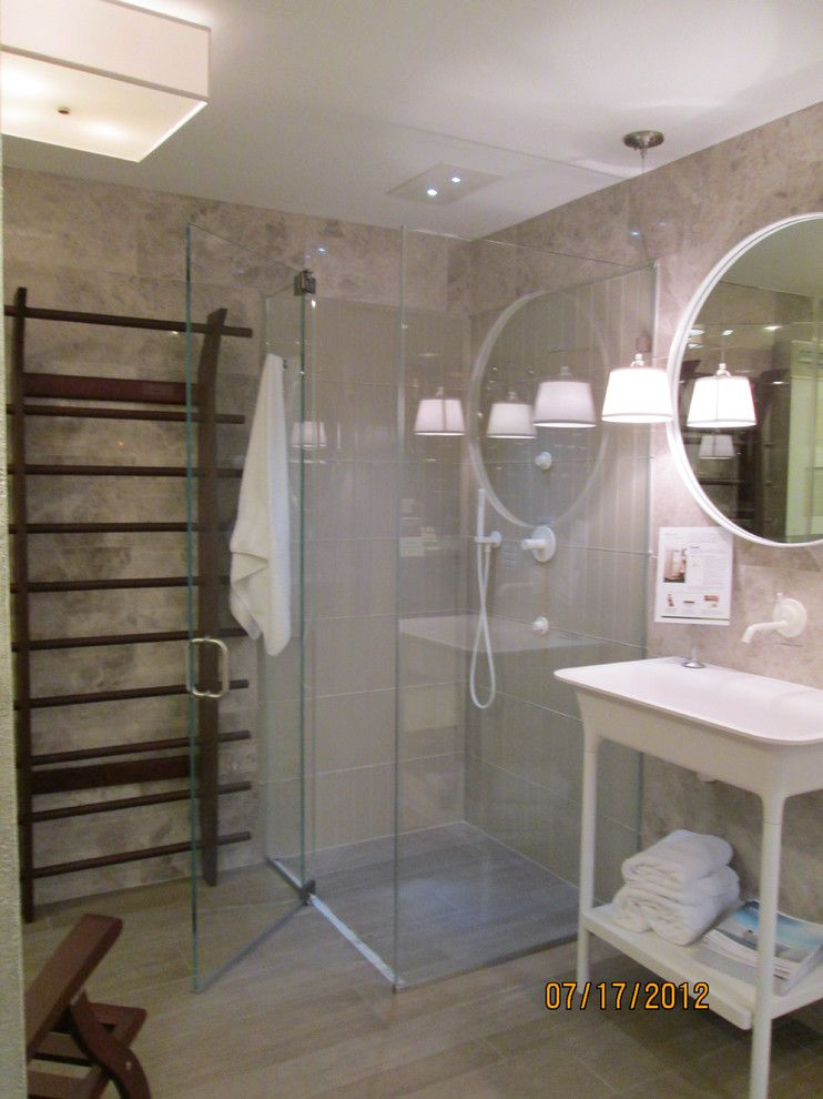 Glass Crafters for a Eclectic Bathroom with a Glass Shower and Glasscrafters' Majestic Series by Glasscrafters Inc