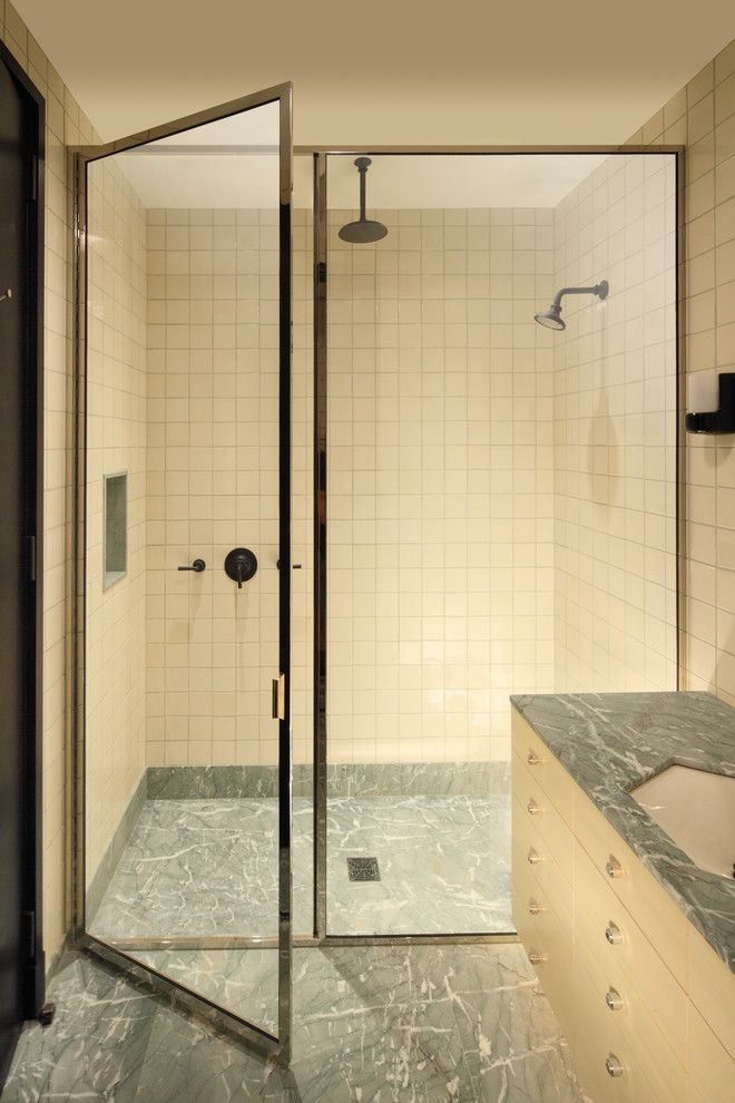 Glasscraft for a Contemporary Bathroom with a Glass Shower Enclosures and Glasscrafters' Regal Series   Framed Shower Enclosure by Glasscrafters Inc