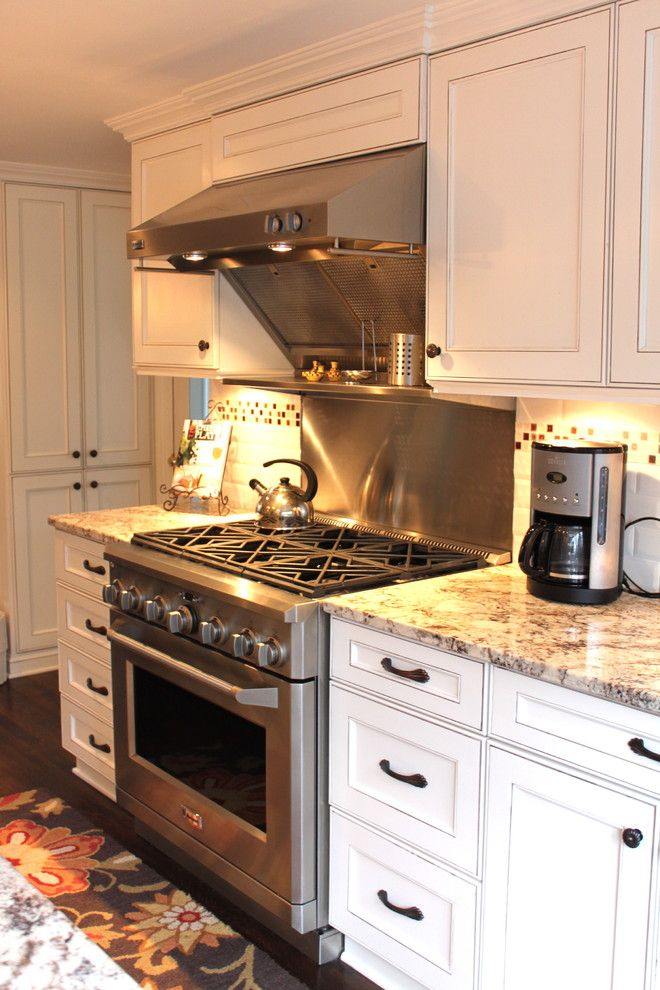 Glazing Cabinets for a Traditional Kitchen with a Kitchen Hardware and Foy Kitchen by House of Cline Design