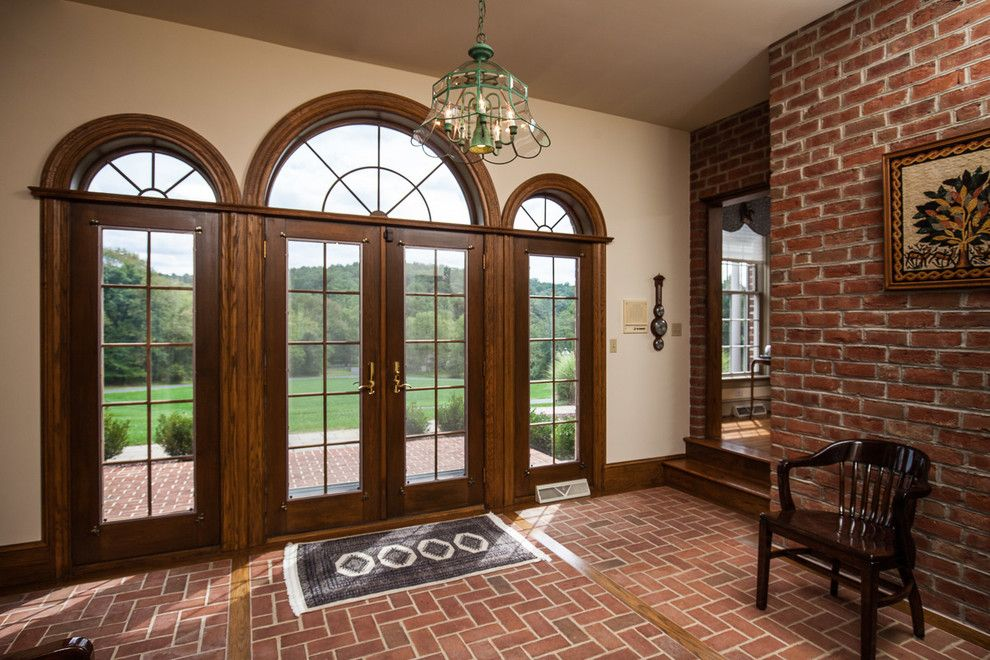 Glen Gery Brick for a Traditional Entry with a Red Brick and Misc. Interior Brick Projects by Glen Gery Brick