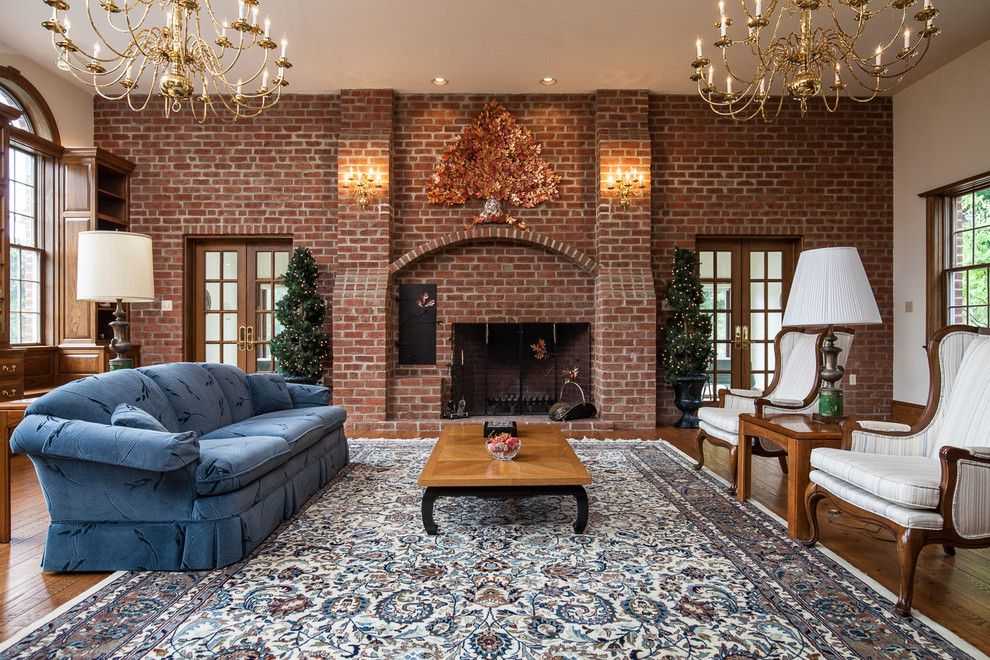Glen Gery Brick for a Traditional Family Room with a Glen Gery Brick and Misc. Interior Brick Projects by Glen Gery Brick