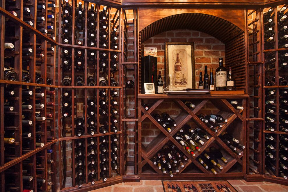 Glen Gery Brick for a Traditional Wine Cellar with a Wine Cellar and Misc. Interior Brick Projects by Glen Gery Brick